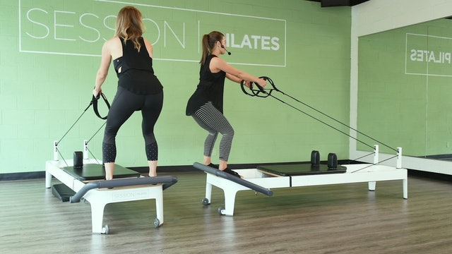Reformer: Lower Body Squat & Row With Caroline