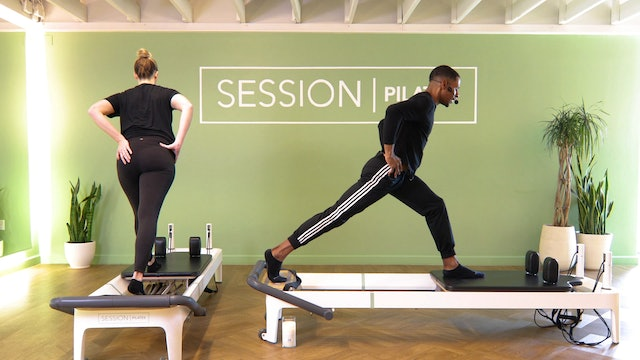 Reformer: Hamstrings, Outer Thighs & Glutes With Zion