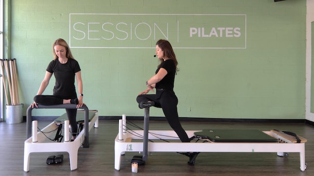 Reformer Stretch: Hamstrings, Outer Thighs & Hip Opener With Judi