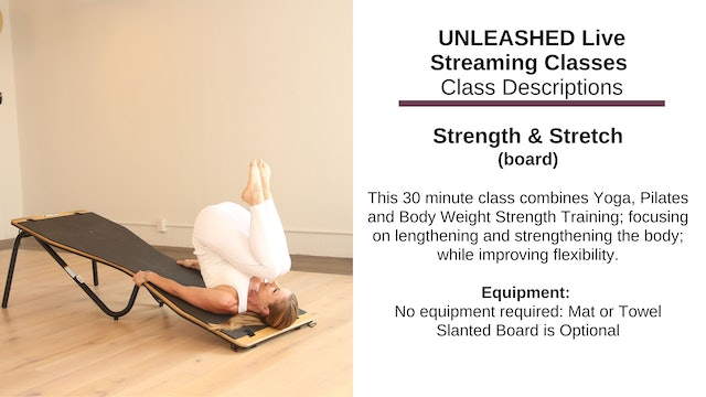 ~ Strength & Stretch ~ Nov