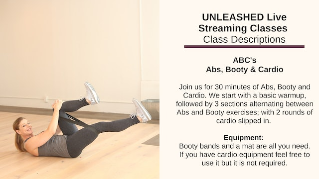 Abs, Booty and Cardio - Oct