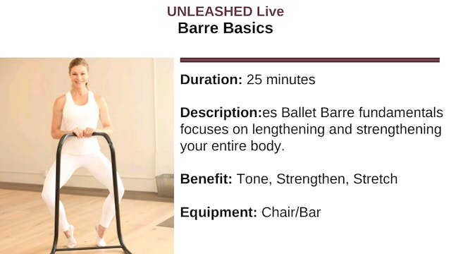 Barre Basics