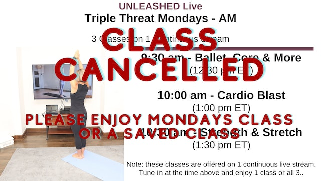 Wed. 9:30 am - Triple Threat - 3 Classes Stacked