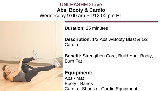 Abs, Booty & Cardio - Dec. 13