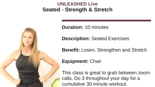 Seated - Strength and Stretch