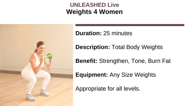 Weights 4 Women - December