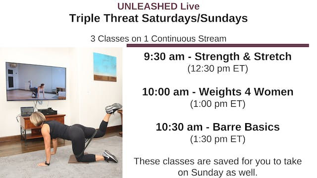 Sat. 9:30 am - Triple Threat - 3 Stac...