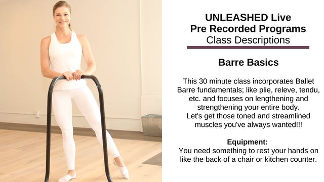 ~ Barre Basics ~ Nov