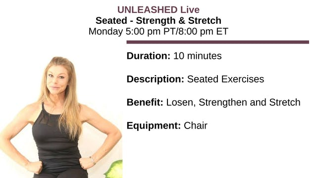 ~ Seated Strength & Stretch - 1/17