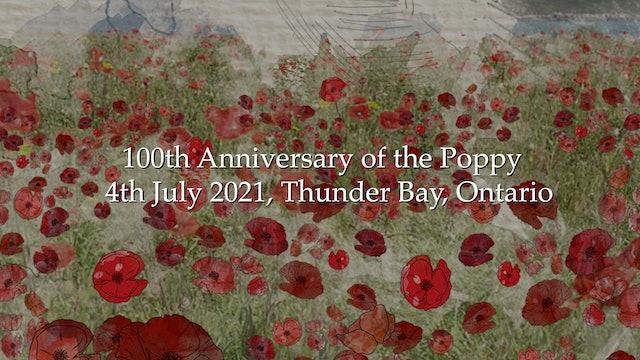 Poppy 100 - 4 July 2021 livestream ceremony