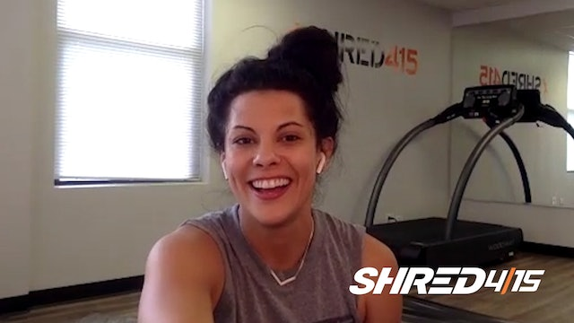 Arms & Abs SWEAT Session + Treadmill with Vicky // Heavy Dumbbells