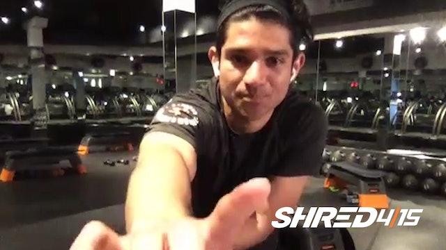 Butt, Legs & Abs + Treadmill Drills with Derick // Heavy Dumbbells