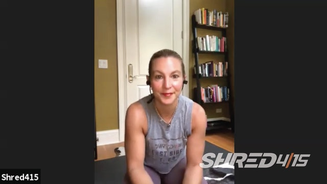 TOTAL BODY Shred to Yoga Workout with Courtney // Weights optional