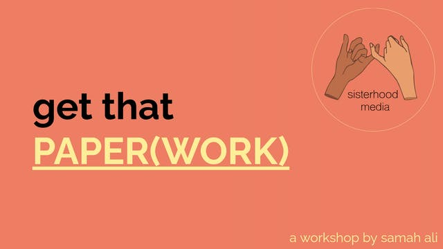 workshop: get that paper(work)