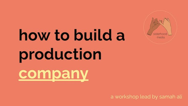 how to build a production company | skillshare sunday