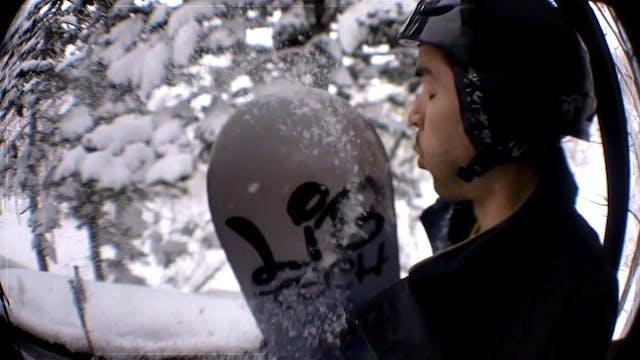 Slow-motion skiing in Hokkaido, Japan