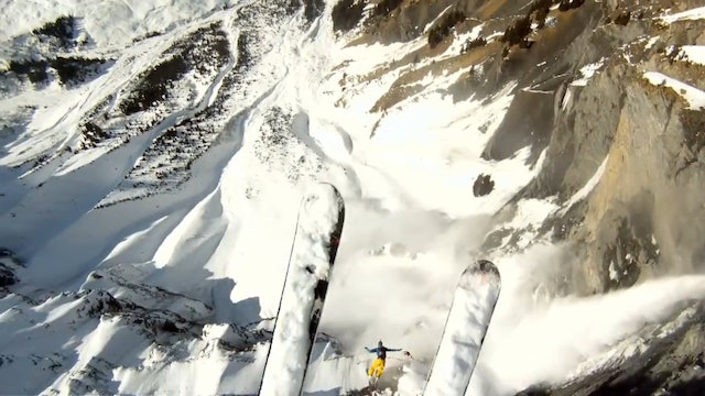 GoPro HD Avalanche Cliff Jump with Matthias Giraud
