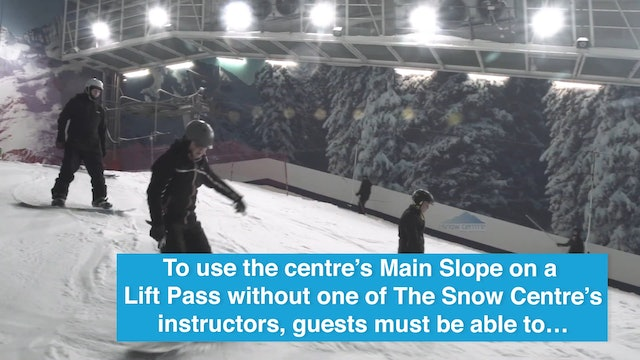 Snow Center Hemel Hemstead - Lift pass minimum standard