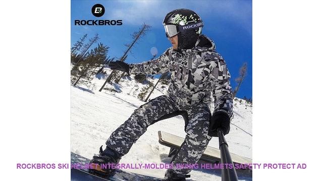 ROCKBROS Ski Helmet Integrally-molded Skiing Helmets Safety Protect Ad
