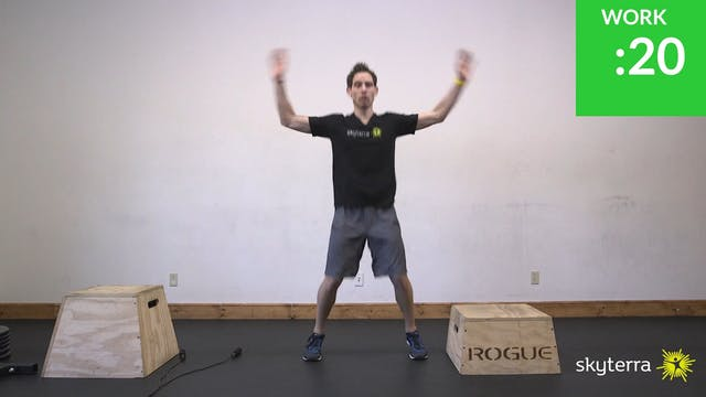 Tabata: Jumping Jacks & Step Ups