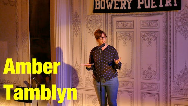 "Amber Tamblyn - ""Live from Bowery Poe..."