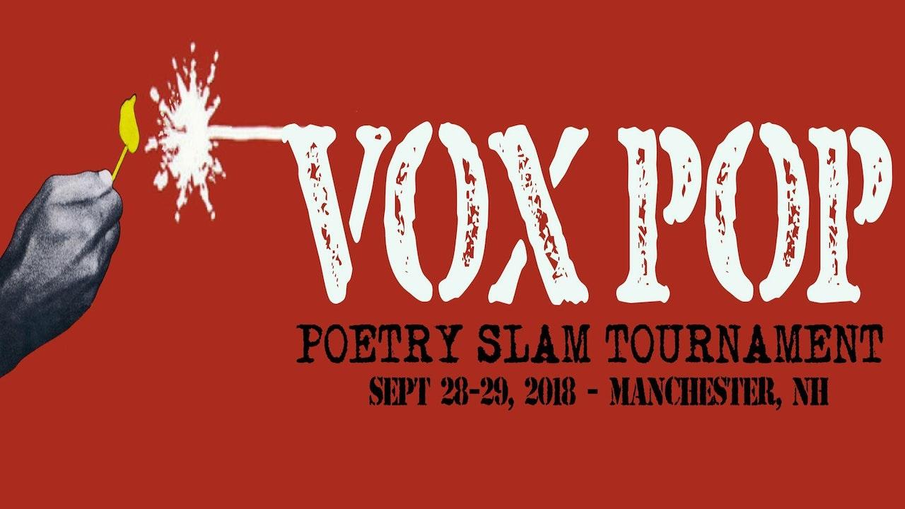 VOX POP 2018 Poetry Slam Tournament