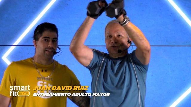 45 min | Entrenamiento adulto mayor brazos | Juan David Ruiz 14/02/21