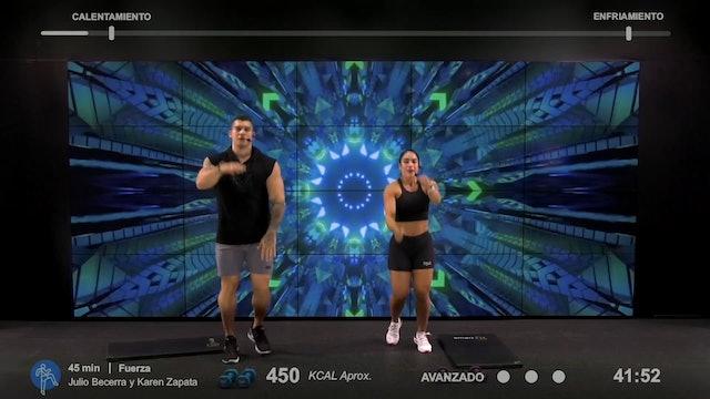 45 min | Entrena todo el cuerpo | Julio Becerra y Karen Zapata 9/03/21