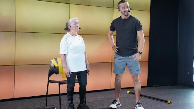 25 min |Entrenamiento para adulto mayor | René Lizarazo y Sonia | 24/07/21