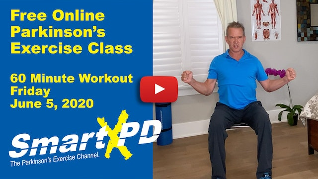 Energetic Live Parkinson's Exercise Class (Friday, June 5th 2020)