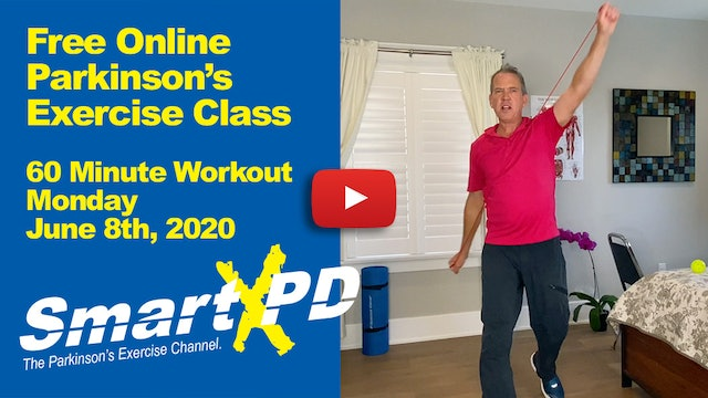 Energetic Live Parkinson's Exercise Class (Monday, June 8th 2020)