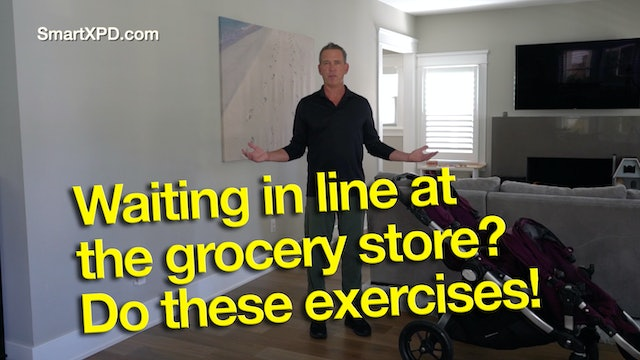 Waiting in line at the grocery store? Here are 4 great Parkinson's exercises.