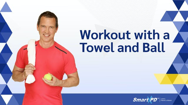 Workout with a Towel and Ball