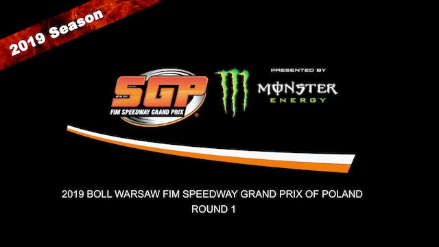 2019 BOLL WARSAW FIM SPEEDWAY GRAND PRIX OF POLAND Rd 1