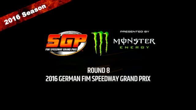 2016 GERMAN FIM SPEEDWAY GRAND PRIX Round 8