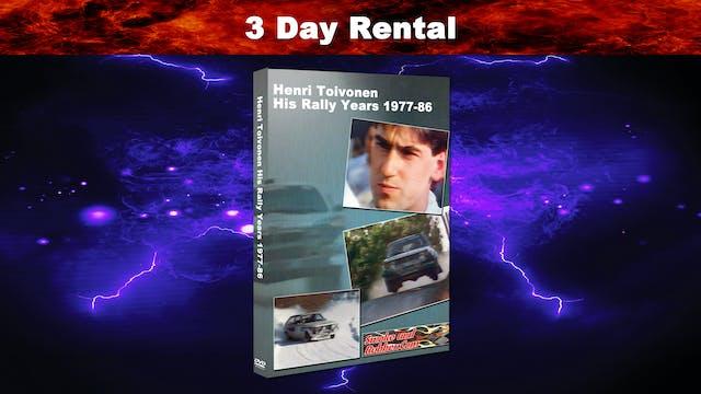 Henri Toivonen His Rally Years 3 Day Rental