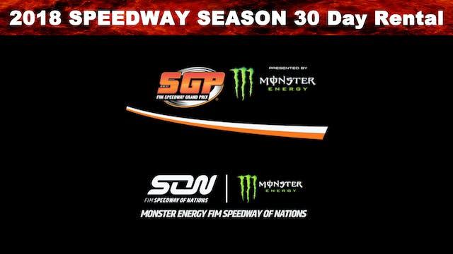 2018 Speedway Season 30 Day Rental
