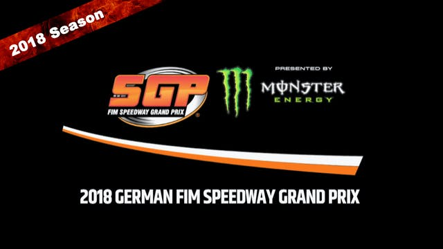 2018 GERMAN FIM SPEEDWAY GRAND PRIX Round 9