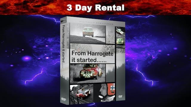 From Harrogate it started....