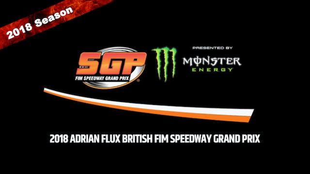2018 ADRIAN FLUX BRITISH FIM SPEEDWAY GRAND PRIX Round 5