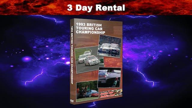 1993 British Touring Car Championship 3 Day Rental