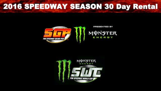 2016 Speedway Season 30 Day Rental