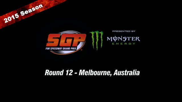 2015 DON SMALLGOODS AUSTRALIAN FIM SPEEDWAY GRAND PRIX Round 12