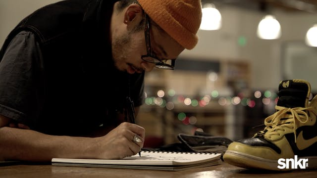 Stomper Haus Sketches the Wu-Tang Dunks