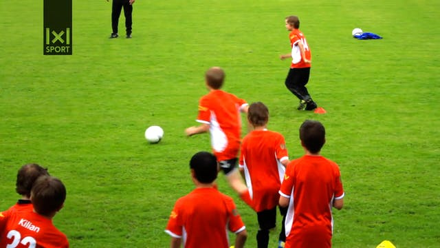 Soccer Clinics Part 4- Passing drill with shots on goal-HD