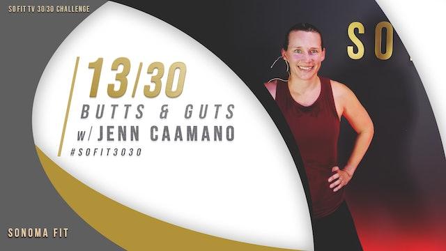 DAY 13/30 | Butts & Guts w/ Jenn Caamano | SoFit TV 30/30 Challenge