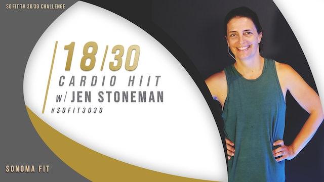 DAY 18/30 | Cardio HIIT w/ Jen Stoneman | SoFit TV 30/30 Challenge