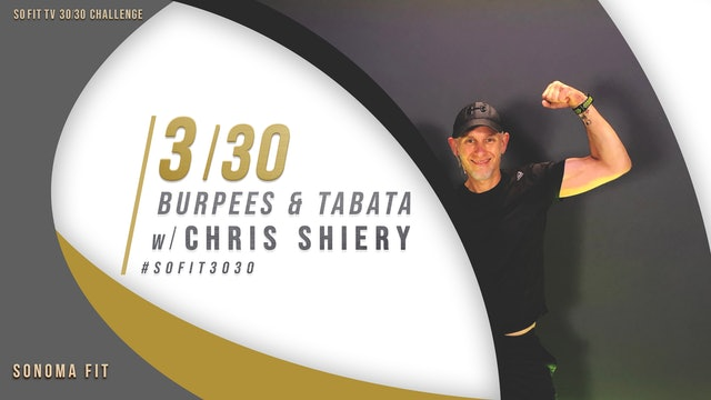 DAY 3/30 | Burpees & Tabata w/ Chris Shiery | SoFit TV 30/30 Challenge