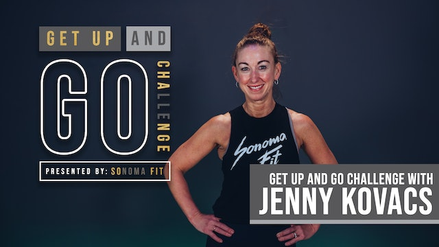 WEDNESDAY GET UP AND GO! | Cardio Conditioning Low Impact w Jenny | Week 1 Day 4