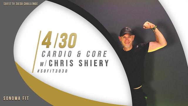 DAY 4/30 | Cardio & Core w/ Chris Shiery | SoFit TV 30/30 Challenge